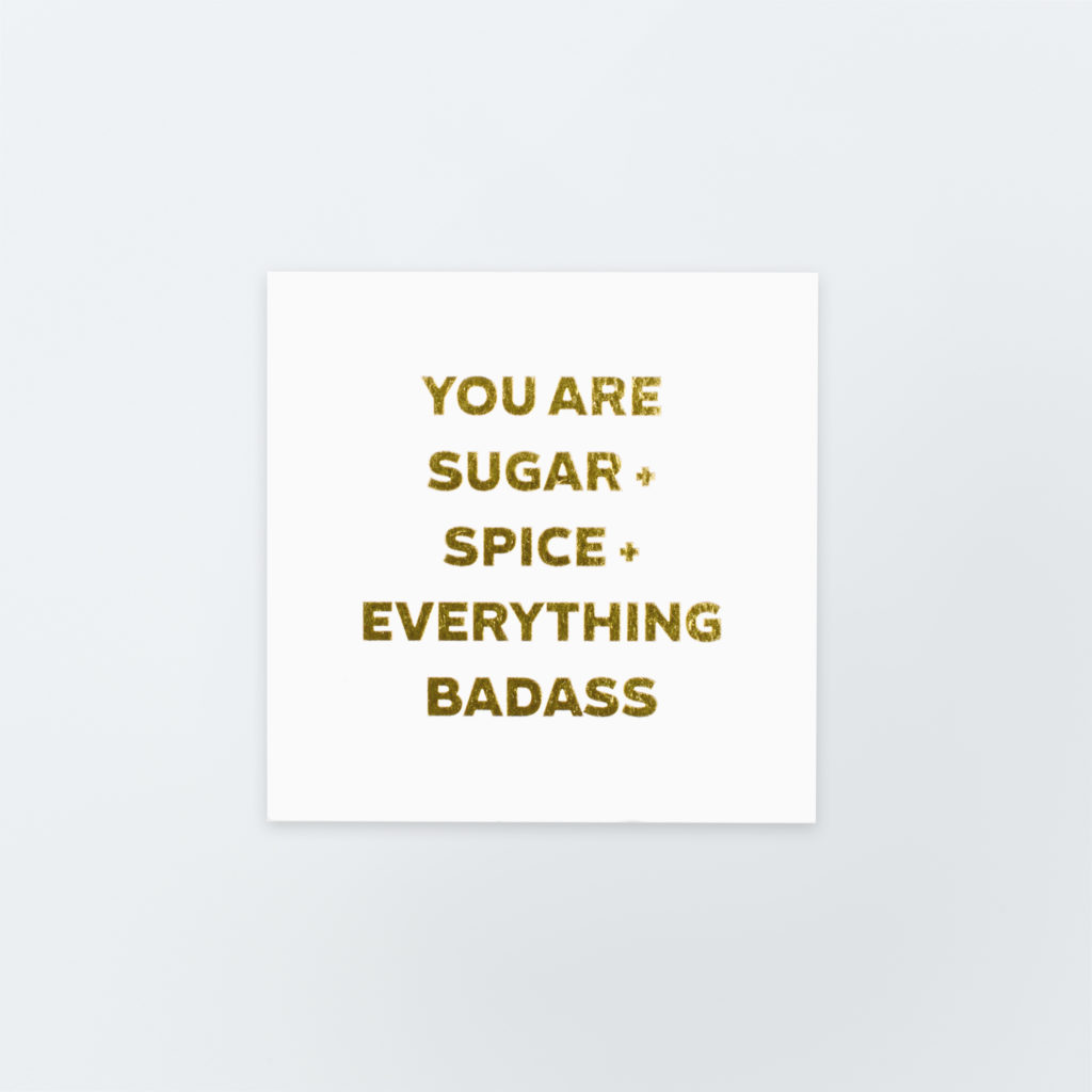 Image of Sugar + Spice Quote Card